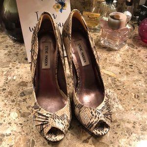 Steven Madden snakeskin heels